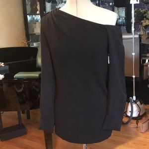 Yigal Azrouel Black Off shoulder top